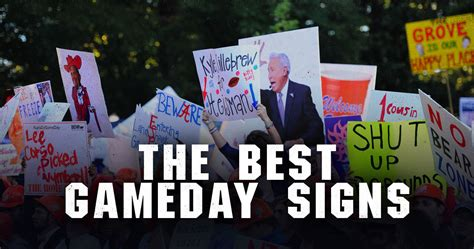 ranking the college gameday signs from the 2015 season