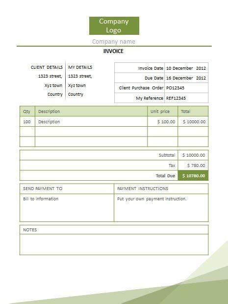 invoice powerpoint templates powerpoint