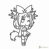 Gacha Coloring Pages Unique Raskrasil Printable Boys Drawings Anime Angel Characters Wolf Fox Kawaii Adult Template Chibi Winks sketch template