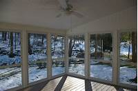 inspiring enclosed patio design ideas Outstanding Enclosed Porch With Opened Wide Glass Doors ...