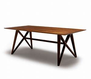 Dm8810 series dining table image 4 medium sized for Modern wood dining table