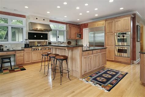 two wall kitchen design 43 quot new and spacious quot light wood custom kitchen designs 6439