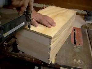 How to build a small wood crate - YouTube