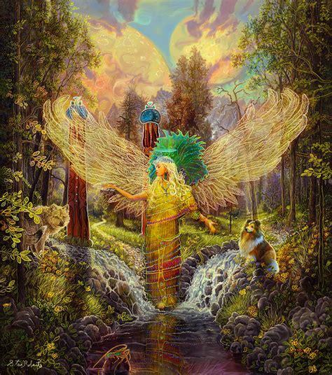 archangel haniel painting  steve roberts