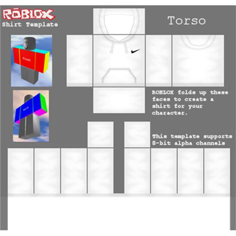 Transparent Hoodie Template Roblox Real Size 585x559 by Hoodie Template Roblox