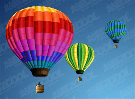 hot air balloon vector material   vectorpsd