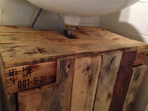 Badmöbel Aus Europaletten by Bathroom Cabinet Cupboard Below Sink From Pallet Timber