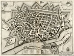 Antique Maps Merian 1643 Germany, Baden-Wurttemberg, Ulm ...