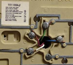 Old Honeywell Thermostat Wiring