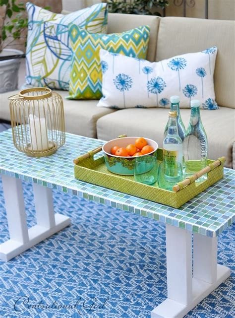 Mosaic Tile Outdoor Table by Diy Tile Outdoor Table Centsational