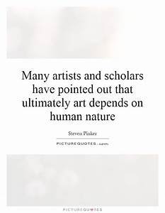 Many artists and scholars have pointed out that ultimately ...