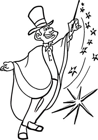 magic coloring page  printable coloring pages