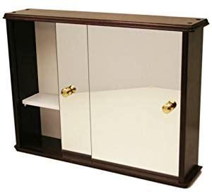 solid pine deluxe sliding door bathroom toilet wall cabinet with mirror 61x46x13cm