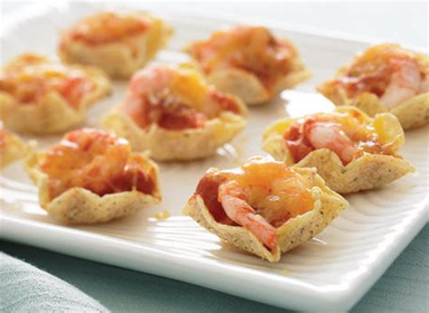 shrimp canapes recipes bouchées fondantes aux crevettes et à la salsa recette