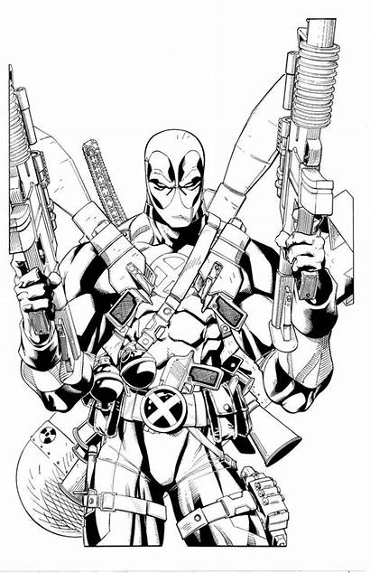 Deadpool Coloring Pages Printable Loaded Fully Marvel