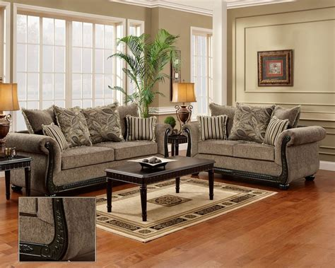 Dream Java Chenille Sofa & Love Seat Living Room Furniture
