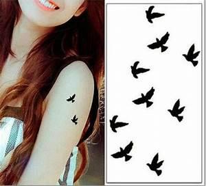 Tatouage Oiseau Homme : vente chaude autocollant de tatouage oiseau noir petit 10 ~ Melissatoandfro.com Idées de Décoration