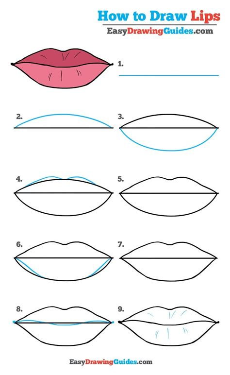 draw lips  easy drawing tutorial