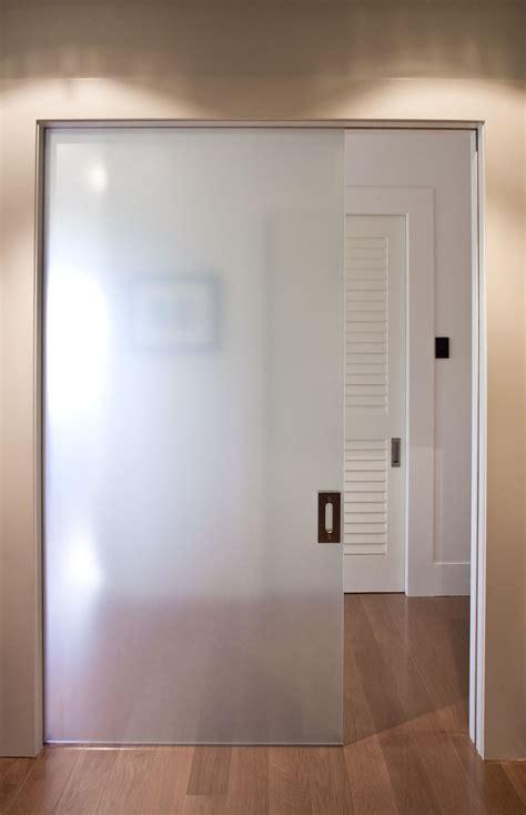 frameless glass cavity slider doors