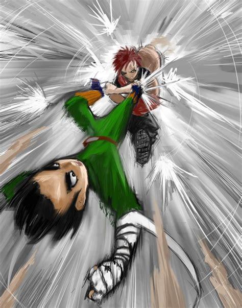 rock lee team guy daily anime art