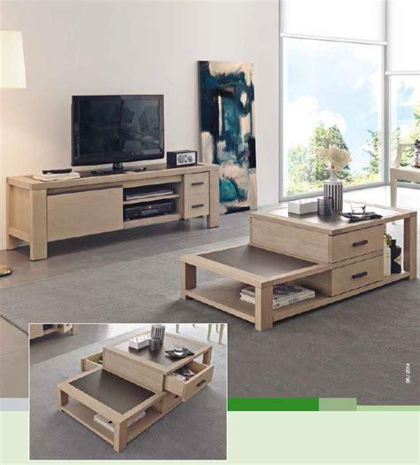 canapé lit en mousse table basse coffre meuble tv colonne en bois d 39 orégon