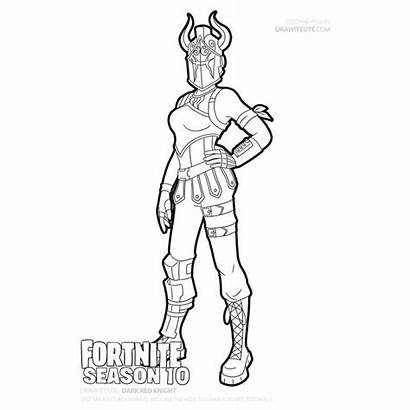 Fortnite Coloring Pages Knight Dark Draw Drawing