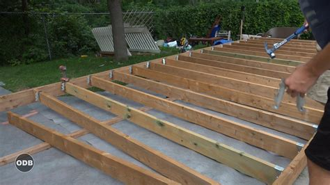 deck how to build a ground level deck plans for outdoor