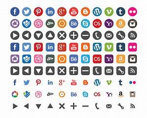 Social Media and Generic Web Icon Set on Behance
