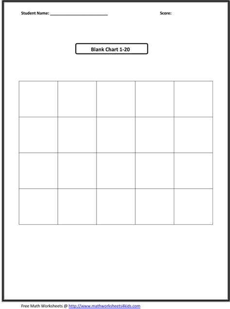 search results for blank worksheet counting to 20