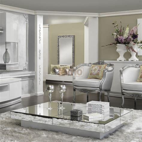 Table Basse De Salon Contemporaine Miroirs Glass