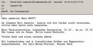 Termin Nicht Wahrgenommen Rechnung : absage deutsch zu preisanfrage archives malerdeck ihr opti maler partner aus karlsruhe ~ Themetempest.com Abrechnung