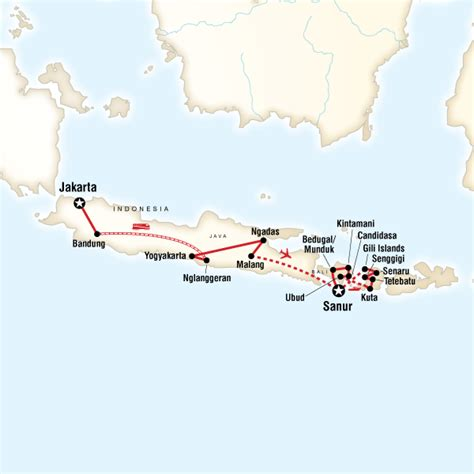 map   route  indonesia java bali lombok