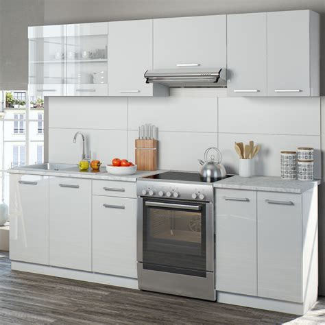 küchenzeile 240 cm mit e geräten vicco k 252 che raul k 252 chenzeile k 252 chenblock e real