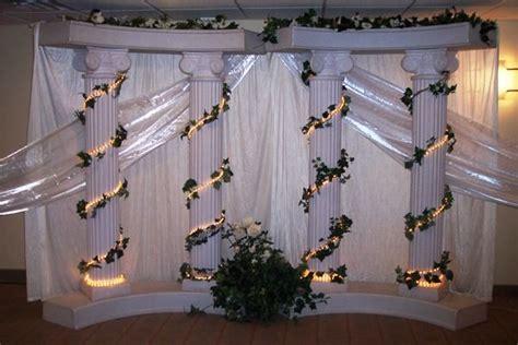 Wedding Columns Decoration Ideas Elegant Roman Pillar 6