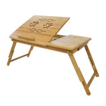 plateau de lit plateau de lit pliable table portable pour ordinateur bureau r 233 glable avec trous d a 233 ration