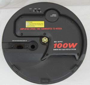 oem 03 mazda protege5 spare tire powered subwoofer 0000 8f j01 by pioneer ebay