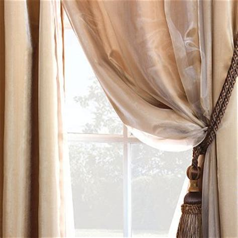 cheap charmeuse sheer curtain panel overlay off white