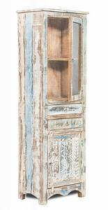 Shabby Chic Vitrine : shabby chic m bel vitrine 60x185x40cm massiv wohnzimmer schrank sheesham m bel shabby ~ Eleganceandgraceweddings.com Haus und Dekorationen