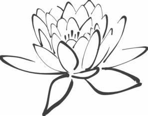 Clip Art Black And White Lotus Flower Clipart
