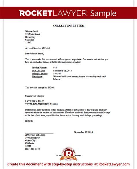 collection letter sample demand letter rocket lawyer