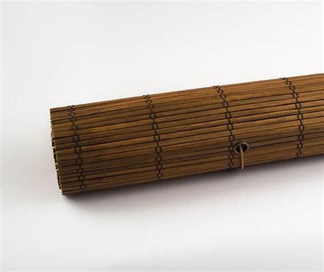 rolgordijn riet bamboe rolgordijn donkerbruin trisq nl