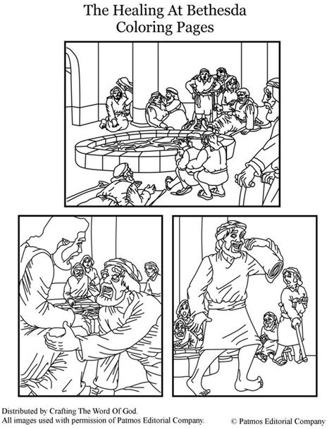 Kleurplaat Bethesda by The Healing At Bethesda Coloring Page Religion