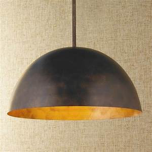 Large copper pendant lighting : Large dome copper pendant lighting by shades