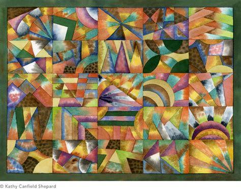 watercolor abstract paintings grid series kathy
