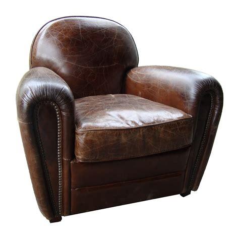 fauteuil club en cuir effet vintage winston cigare