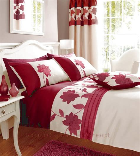 bedroom curtains  matching bedding red bedding