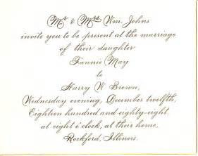 wedding invite templates sle wedding invitation invitation templates