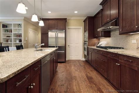 Oak Floors With Dark Walnut Cabinets  Something For Mom