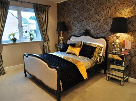 Schlafzimmer Schwarz Braun by Black And Gold Bedroom Ideas Black Brown Gold Orange