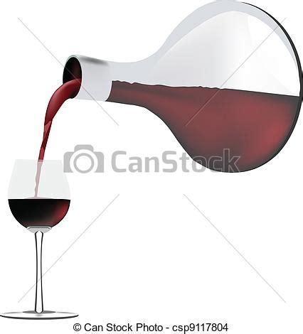 vecteur eps de r 233 cipient vin verser les vin dans les verre csp9117804 recherchez des